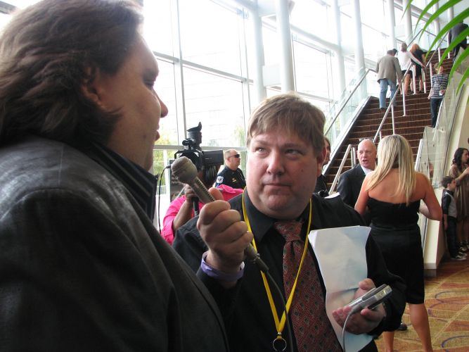 Joey being interviewed at GA Music Hall of Fame Awards