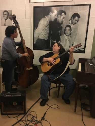 Joey and Nestor at Sun Studio