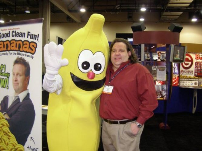 Joey at NRB with the Giant Banana
