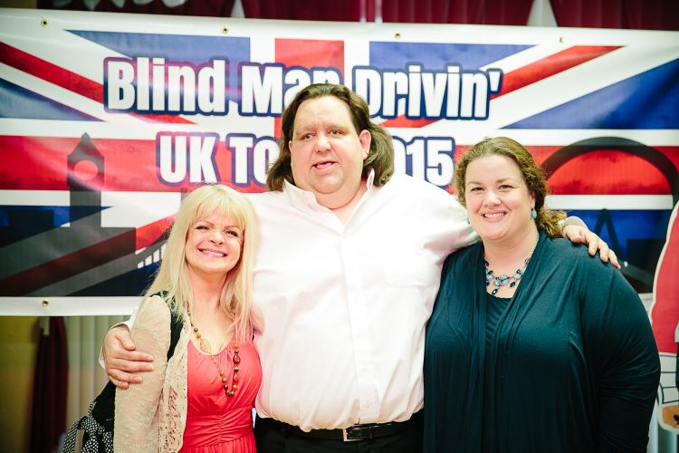 Joey and Jen with their Cupid Lee McWilliams at UK Trip Party
