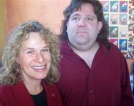 Joey with Carol King--the natural woman herself