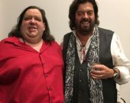 Joey with Alan Parsons at Hybrid Studios in Santa Ana