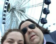Joey & Jen at Centennial Wheel at Chicago's historic Navy Pier