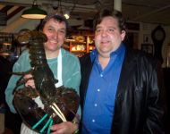 Joye with 9# lobster in Boston