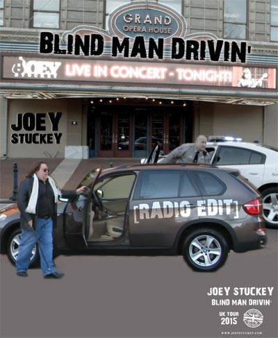 """Blind Man Drivin'"" UK Tour Poster"