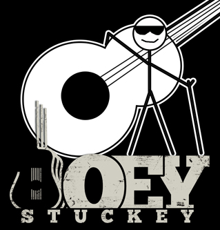 Joey Stuckey stick figure man logo