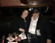 Joey and Jen in VIP section of BB Kings for 2018 Grammy Soiree