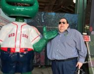Walley the Red Sox Mascot - He's a Big Green Monster - LOL