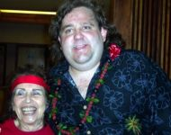 Joey with Jackie Ward at Hawaiian Jazz Blow Out