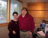 Joey with Lisa Mullins at Studio GPR in Boston