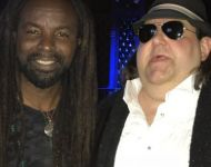 Joey with 2018 Round Glass Music Awards performer and Grammy nominee Rocky Dawuni