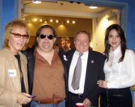Joey with Gary Montgomery, Alan Walden and Tosha Walden at Macon Music Book Release