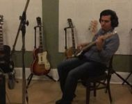 Nestor tracking bass at Sun Studio