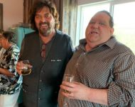 Joey and Alan Parsons relaxing at a session at ParSonics in Santa Barbara