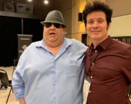 Joey with Warren Huart at 2019 Summer NAMM in Nashville