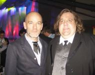 Joey with Michael Stipe of REM at  GMHOF Awards