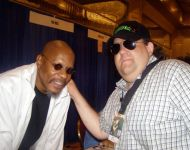 Joey with Avery Brooks