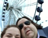 Joey and Jen at Centennial Wheel at Chicago's historic Navy Pier