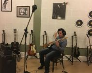 Nestor The Bassman tracking at Sun Studio
