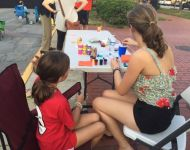 Face painting at Alive Day