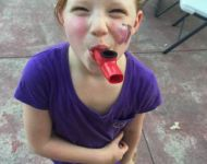face painting and kazoos at alive day