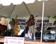 Joey performing at Great Hawaiian Jazz Blowout