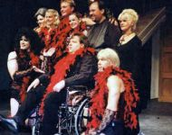 Joey with Rock Horror Show Cast 2002