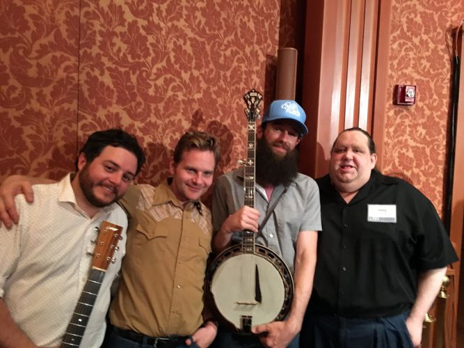 Joey with members of Cole Quest and the City Pickers