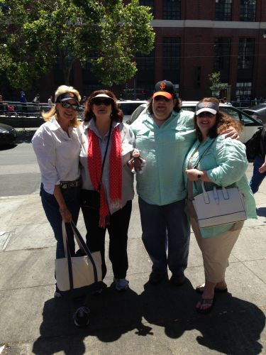 Joey, Jen, Kimberly Dawn and Cheryl at Giants game in San Francisco