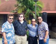 Joey with band at Great Hawaiian Jazz Blowout 2004