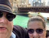 Joey and Jen at Chicago River Walk