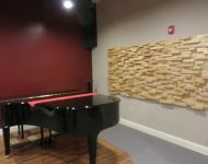 Piano room at studio