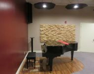 Piano room at studio 4