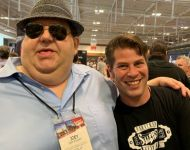 Joey with CEO of Pigtronix and Supro Dave Koltai