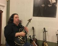 Joey tracking vocals at Sun Studio