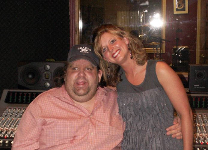 joey and stacy hostler in studio
